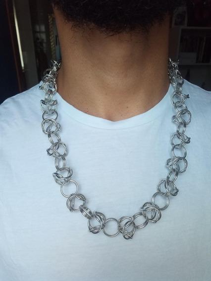 Corrente Persiana / Peruana Alumínio Prateada