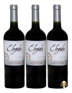 Kit 03 Vinho Elegido Montes Toscanini Tannat Merlot 750ml