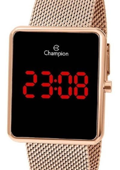 Relógio Champion Feminino Digital Rose Gold Ch40080p