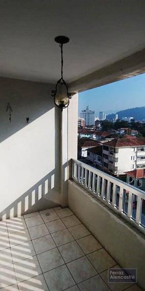 Apartamento Com 2 Dormitórios Para Alugar, 120 M² Por R$ 2.500,00/mês - Marapé - Santos/sp - Ap0094