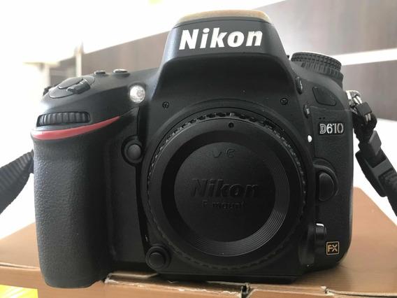 Câmera Nikon D610 + 1 Bateria E 1 Carregador Originais
