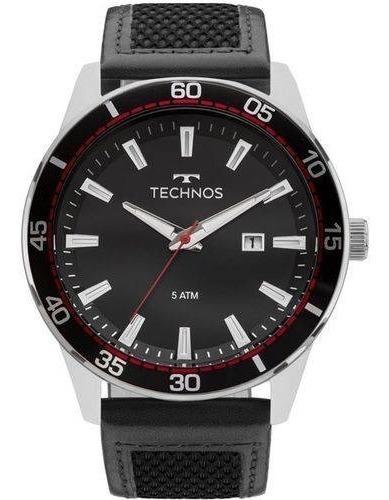 Relógio Preto Technos Masculino Clasic Legacy 2115mmz/0p T90