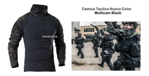 Camisa Playera Táctica Militar Nuevo Color Multicam Black