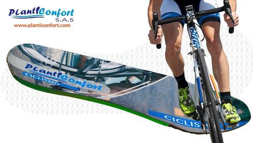 Imagen 1 de 6 de Plantillas Deportivas Para Montar En Bicicleta O Ciclismo