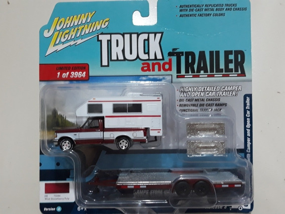 Miniatura Pick Up F-150 1993 With Camper C/ Carreta 1/64