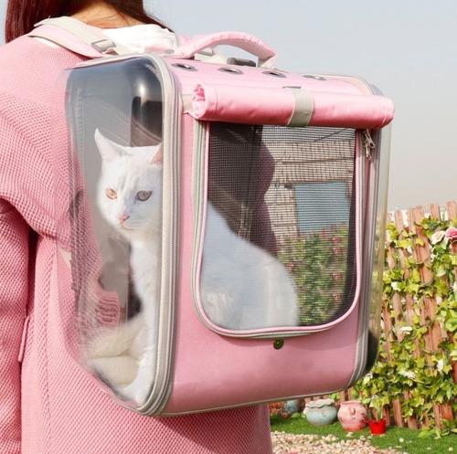 Mochila Porta Gato Perro Mascotas Transpirable - A Pedido