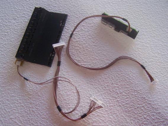 Teclado E Sensor Controle Panasonic Tc-l42et5b Com Cabos