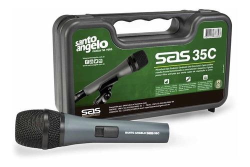 Microfone Com Fio Santo Angelo Sas 35c C Chave Case Cachimbo