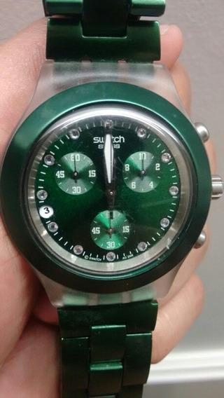 Relogio Swatch Irony - Verde - Frete Grátis!