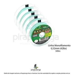 Linha Monofilamento Super Raiglon Soft 0,52mm 42lbs 500m