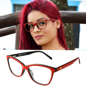 70ad84f02 Oculos De Grau Feminino Vermelho Ana Hickmann - Óculos no Mercado ...