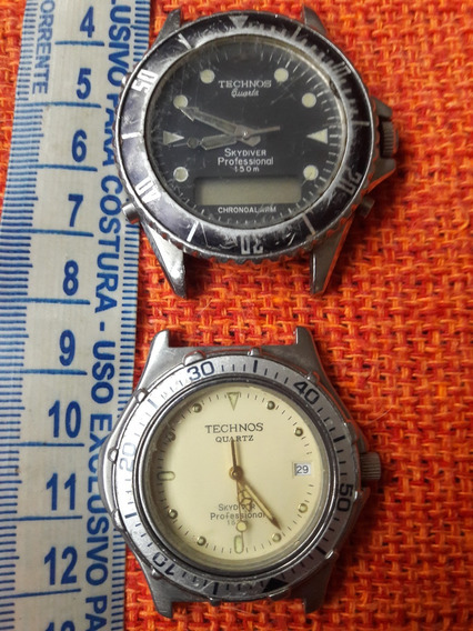Lote 02 Relógio Technos Chronoalarm Skydiver Professional
