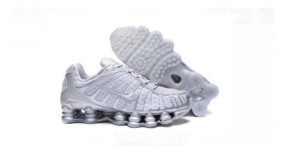 Tenis Nike Shox Tlx Nk 12 Molas Prateado Masculino Original