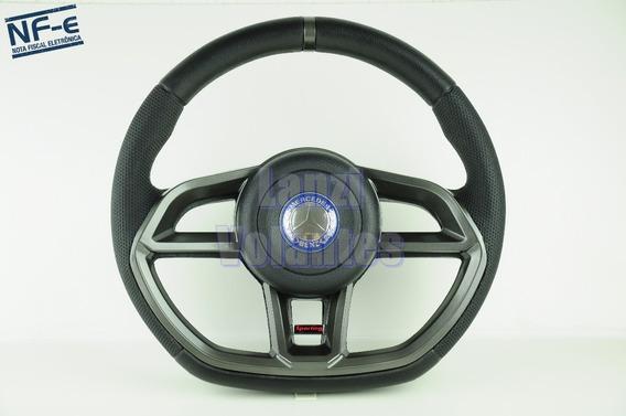 Volante Esportivo Golf Gti Caminhão Mercedes Grafite + Cubo