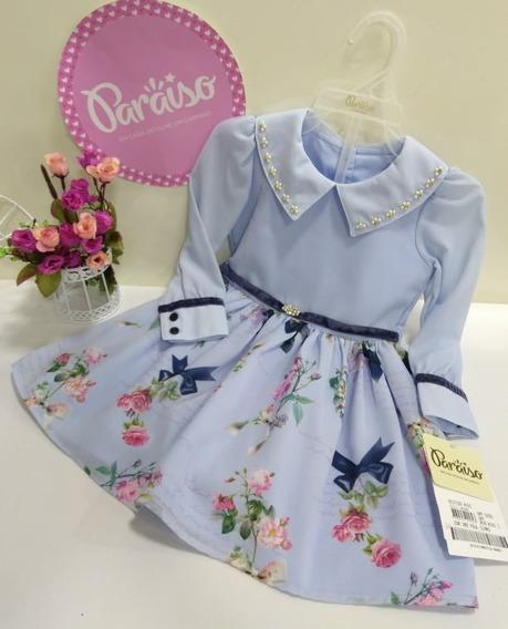 Vestido Luxo Paraiso Menina Infantil Tam 1 2 3 4 Cod 8191