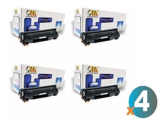 Kit Com 4 Cartucho Impressora P1102 M1212 M1132 P1005 M1120