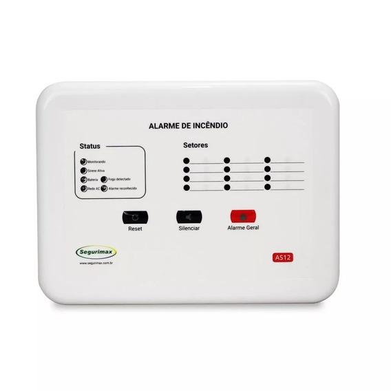 Central Alarme De Incêndio+bateria 12 Setores Segurimax