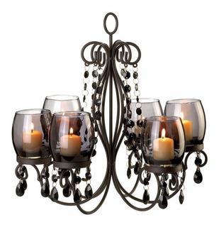 Candelabro Art Deco Vintage Lámpara Colgante Hierro Forjado