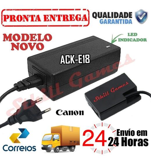 Fonte Ack-e18 Adaptador Ac Para Canon Rebel T6i T6s T7i 77d