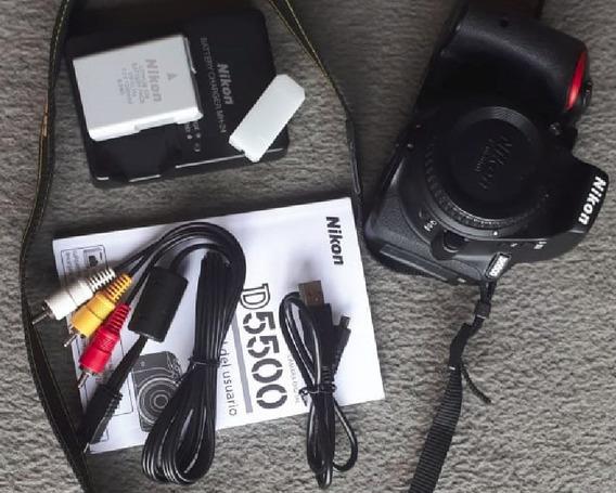 Câmera Nikon D5500 + Lente Nikkor Af-p Dx Vr 18-55mm