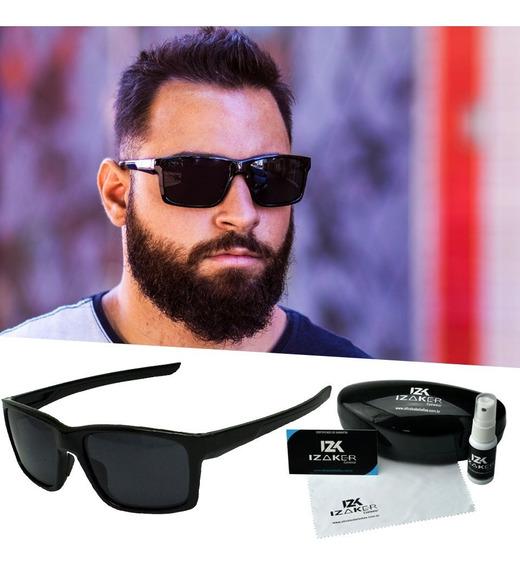 Óculos De Sol Masculino Quadrado Polarizante Preto Esporte