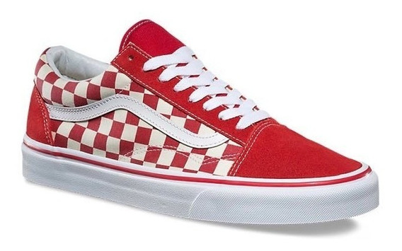 Tenis Vans Old Skool Checkerboard Racing Red/white