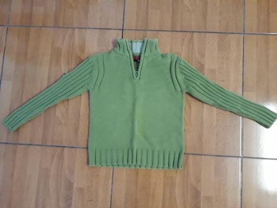 Sweter - Pullover Verde Gruesa Talle 6 A 7 Años