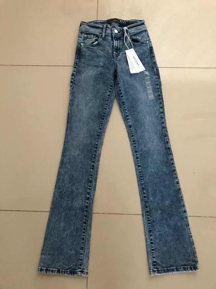 Jeans De Dama Guess Estilo Boot Cut Mid Originales T:24