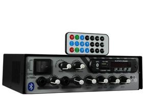 Amplificador Som Ambiente 500 Watts Blue 4 Canais Rc7000bt