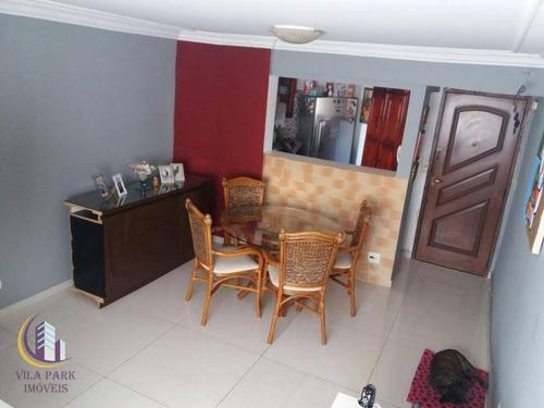 Apartamento 02 Dormitórios, Sala, Cozinha,com Armários Planejado, Área De Serviço, Banheiro E Uma Vaga. - Ap1173