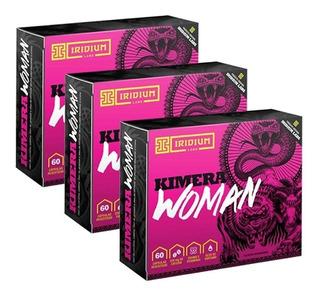 Kit 3 Kimera Woman 60 Cáps - Termogênico - Emagrecedor Defin
