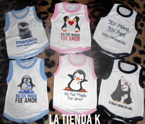 Imagen 1 de 7 de Bodies Bebes Kirchneristas Peronistas Sin Manga Con Ribetes