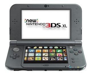 Nintendo 3ds Xl - Black + Cargador De Pared - La Plata