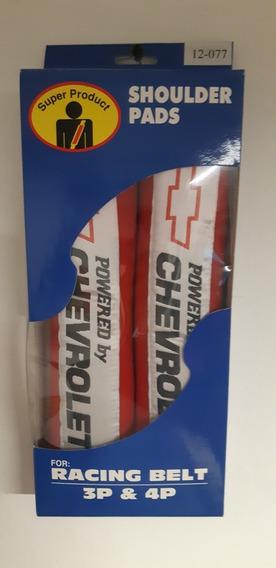 Almohadillas Powered By Chevrolet Rojas Cinturones Seguridad