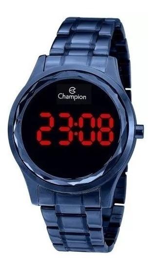 Relógio Feminino Azul Metaligo Digital Original Envio 24 H Led