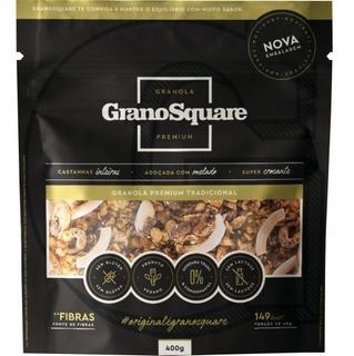 Granola Grano Square Premium Vegana 400g Sem Glúten