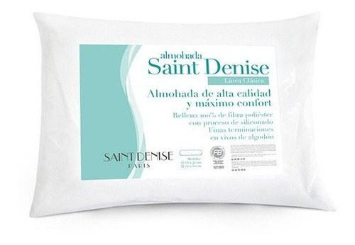 Imagen 1 de 6 de Almohada Con Relleno Siliconado Saint Denise 65x45