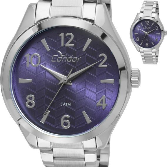 Relógio Condor Feminino Prateado Co2036ksx/3g Original