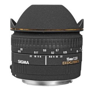 F/2.8 De 15mm De Sigma Ex Dg Diagonal Lente Ojo De Pez Para