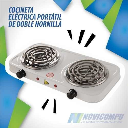 Cocineta Electrica Portatil De Doble Hornilla Potente Y Prac