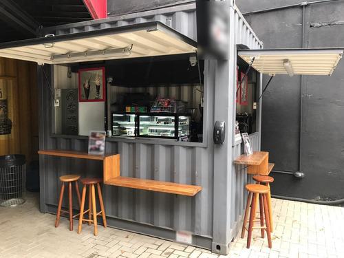 Imagem 1 de 6 de Container Comercial Cafeteria/lanches Pronto Para Operar