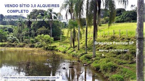 Imagem 1 de 15 de Sítio / Chácara Para Venda Em Bragança Paulista, Sítio, Lago, 3 Alqueires Completo, 3 Dormitórios, 1 Suíte, 3 Banheiros, 9 Vagas - 3040_1-1915641