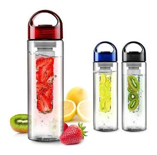 Botella Vaso Con Infusor Crea Agua De Fruta 100% Natural