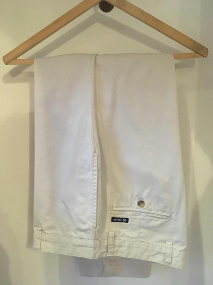 Pantalón De Vestir Blanco - Chaps Usa Importado