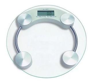 Balanza Personal Digital De Baño 180 Kg Vidrio Templado 8mm