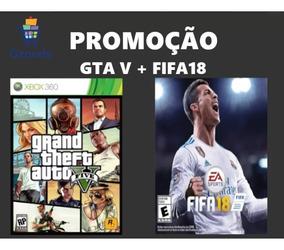 Gta V + Fifa 18 Xbox 360 (travado) Promoção Na Descrição
