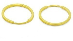 Brincos De Argola Em Ouro 18k 750 Feminino