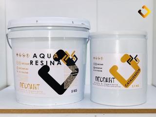 Resina Epoxica Transparente Aqua A+b 7.10kg Altos Espesores