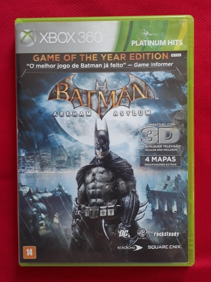 Batman Arkham Asylum Xbox 360 Mídia Física Original