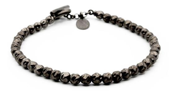 Double Bone Medium Beads Black Plata Diego Vez